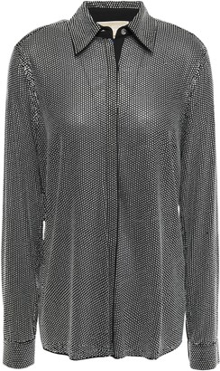MICHAEL Michael Kors Crystal-embellished Georgette Shirt