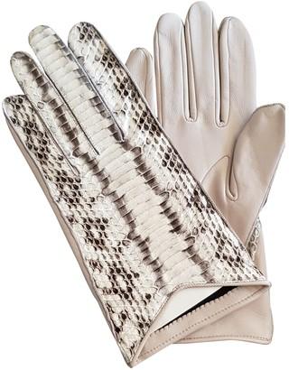 Burberry Pink Python Gloves