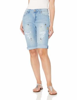 Bandolino Women's Riley Slim Fit Roll Cuff Bermuda Short