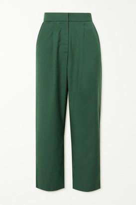 ANNA QUAN - Tate Cropped Twill Straight-leg Pants - Green