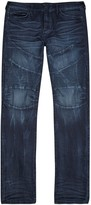 True Religion Rocco Moto Dark Blue Biker Jeans