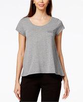 Hue Short-Sleeve Lace-Trim Pajama Top