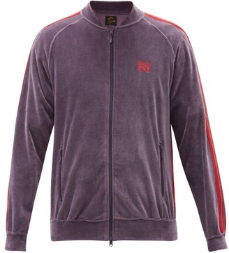 Needles Butterfly-embroidered Cotton-blend Track Jacket - Purple
