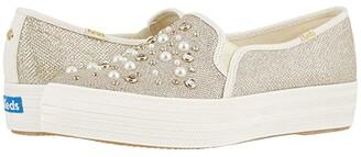 Keds x kate spade new york Bridal Triple Decker (Gold Soft Lurex/Crystals) Women's Shoes