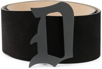 Dondup Monogram Buckle Suede Belt