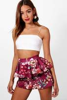 boohoo Gillian Peplum Waist Shorts