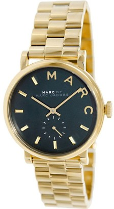 Marc by Marc Jacobs Women's Baker MBM3249 Goldtone Stainless Steel Green Dial Watch