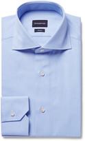 Ermenegildo Zegna - Blue Slim-fit Cutaway-collar Puppytooth Cotton Shirt