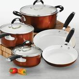 Tramontina Style Ceramica 10-Piece Cookware Set in Metallic Copper
