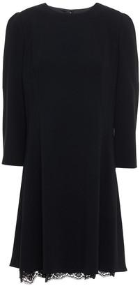 Dolce & Gabbana Lace-trimmed Crepe Mini Dress