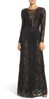 BCBGMAXAZRIA 'Veira' Illusion Lace Gown