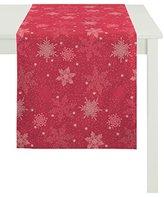 Apelt Table runner, Polyester, red, 48 x 140 x 0.5 cm