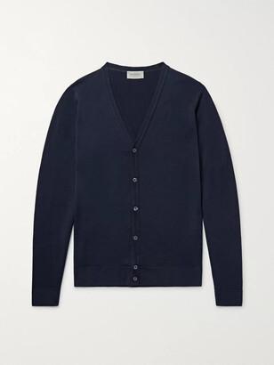 John Smedley Petworth Fine-Knit Merino Wool Cardigan