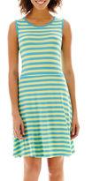 JCPenney By Artisan Sleeveless Striped Tank Dress