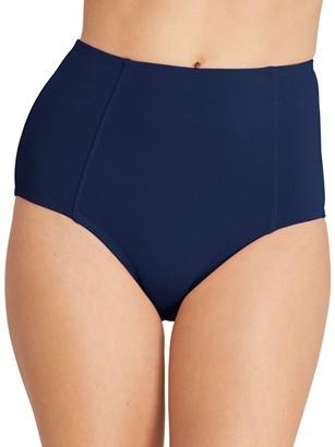 Lands' End Women's Retro High-Waist Bikini Bottoms