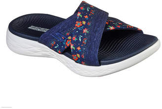 Skechers On-The-Go 600 Womens Criss Cross Strap Footbed Sandals