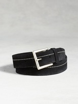 John Varvatos Waxed Suede Belt