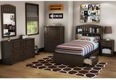 South Shore Popular Twin Mates Bed in Mocha