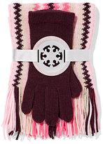 New York & Co. 2-Piece Zig-Zag Stripe Scarf & Gloves Set
