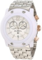 Glam Rock Women's GD1108-DMC Miami Beach Chronograph White Dial Stainless Steel Watch