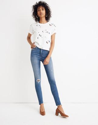 "Madewell Petite 10"" High-Rise Skinny Jeans: Drop Step-Hem Edition"