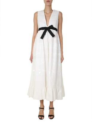 RED Valentino Bow Detail Maxi Dress