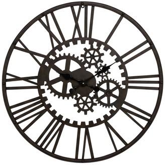 Willow Row Metal Cutout Gear Wall Clock