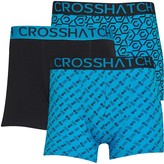 Crosshatch Mens Gleason Three Pack Boxers Black/Blue Danube/Blue Danube