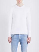 Sandro Waffle-knit pure-cotton sweatshirt