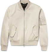 Ami Cotton And Linen-blend Twill Bomber Jacket