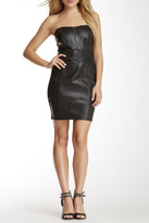 Sky Reptile Genuine Leather Strapless Dress