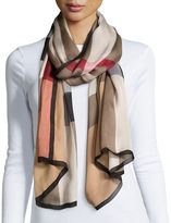 Burberry Mega Check Ultra-Washed Silk Scarf