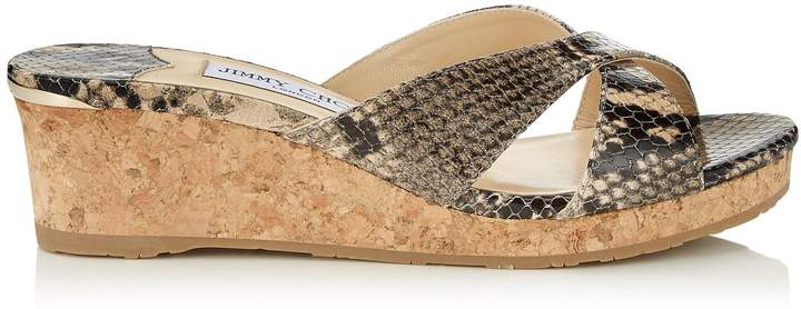 76539bc083f ALMER 50 White Sand Printed Leather Mule