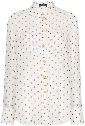 Balmain Polka Dot Sheer Shirt