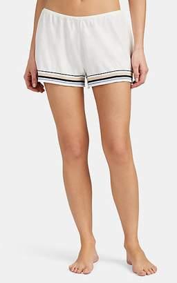 Skin Women's Evie Striped Cotton-Blend Pajama Shorts - Ivory