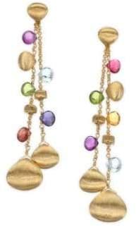 Marco Bicego Paradise Semi-Precious Multi-Stone Double-Drop Earrings