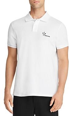 Moncler Logo Regular Fit Pique Polo Shirt