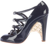 Chanel Quilted Patent Leather Pumps