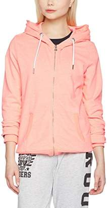 Superdry Women's O L Luxe Lite Edition Ziphood Sports Hoodie, Grigio (Coral Blossom Jaspe), (Manufacturer Size: M)