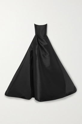 Alex Perry Denver Strapless Satin Gown - Black