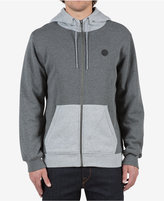 Volcom Men's Single Stone Colorblocked Full-Zip Hoodie with Fleece Lining