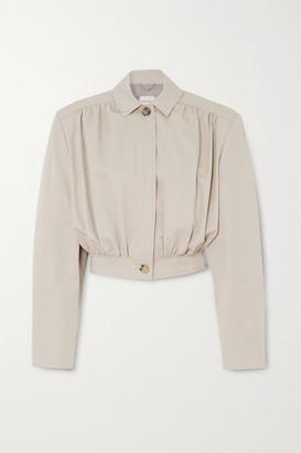 Magda Butrym Ipswich Cropped Cotton-twill Jacket - Beige