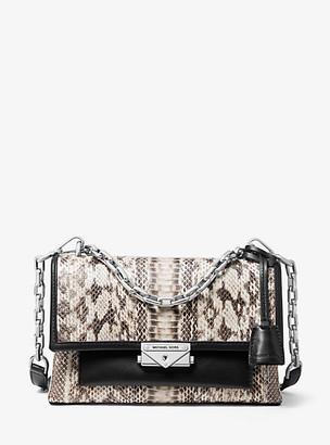 Michael Kors Cece Medium Snakeskin Shoulder Bag
