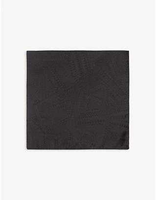 BOSS Geometric paisley pattern silk pocket square