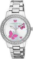Laura Ashley Womens Silver Tone Bracelet Watch-La31015ss
