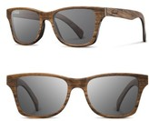 Shwood Men's 'Canby' 54Mm Polarized Wood Sunglasses - Walnut/ Grey