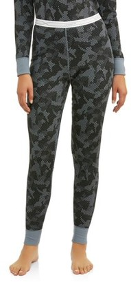 Hanes Women's X-Temp Thermal Waffle Printed Pant with FreshIQ