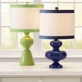 Geometric Lamp Base + Ribbon Trim Shade