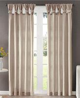 "Madison Park Emilia 50"" x 84"" Lined Faux-Silk Twisted Tab Window Panel"