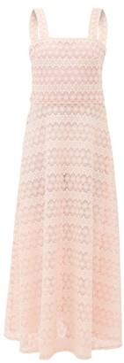 Gioia Bini Lucinda Macrame-lace Maxi Dress - Womens - Pink